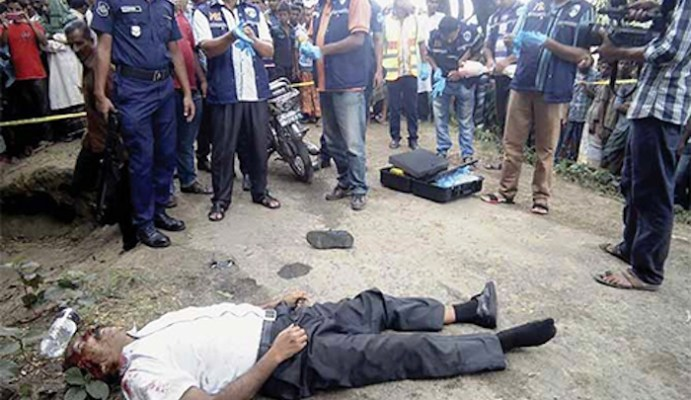 """(MAY 21, 2016) Islamic State murders doctor who """"called to Christianity"""". The ISIS claimed responsibility for the killing of a 58-year-old homoeopathic doctor in western Bangladesh, as the Muslim-majority country reels under a series of brutal murders of secular activists and minorities by Islamists. Proselytizing for any other religion is forbidden in Islamic law."""