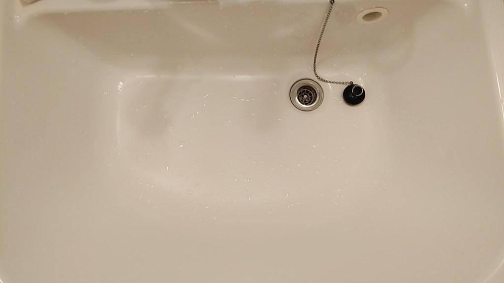 洗面所掃除後