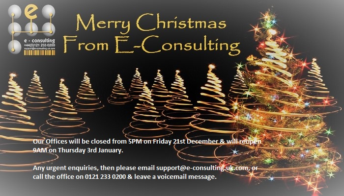 , Merry Christmas from E-Consulting LTD, IT Support Birmingham And West Midlands - E-Consulting