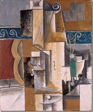 Picassoguitare et violon_1913