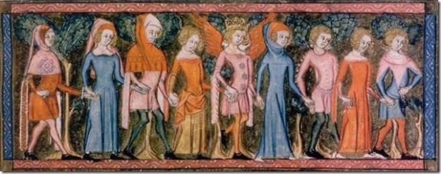 Danseurs - Fresque du Moyen Age
