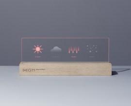 インテリアとしても。洗練されたデザインパネルで天気予報をお知らせ『QM weather.』
