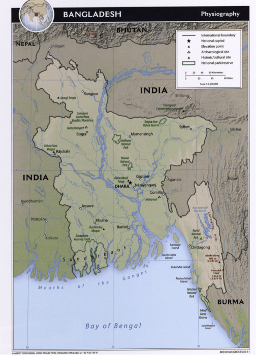 Ganges River India Map : ganges, river, india, India-Bangladesh, Ganges, River, Split, EARTH, Water:, Science, Society