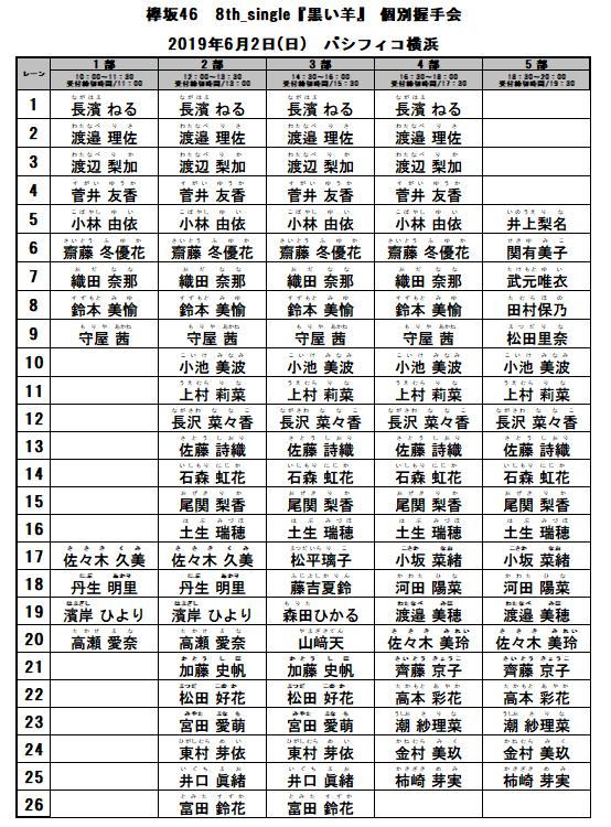 8thシングル『黒い羊』発売記念 個別握手会 6月2日(日)神奈川会場@パシフィコ横浜