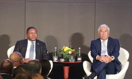 Presidente de Moçambique, Filipe Nyusi, com primeiro-ministro de Portugal, António Costa