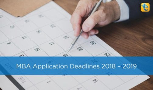 MBA Application Deadlines 2019 gmat