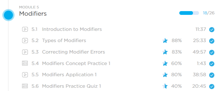modifiers concepts gmat