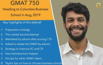 GMAT 750 score Columbia admit