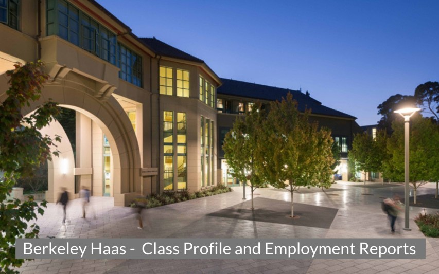 Berkeley Haas - Class Profile, Career and Employment Outcomes