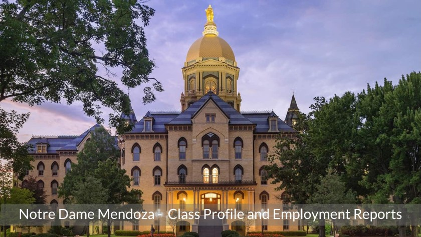 Notre Dame Mendoza College of Business MBA Program - Class Profile, Career and Employment Outcomes (1)