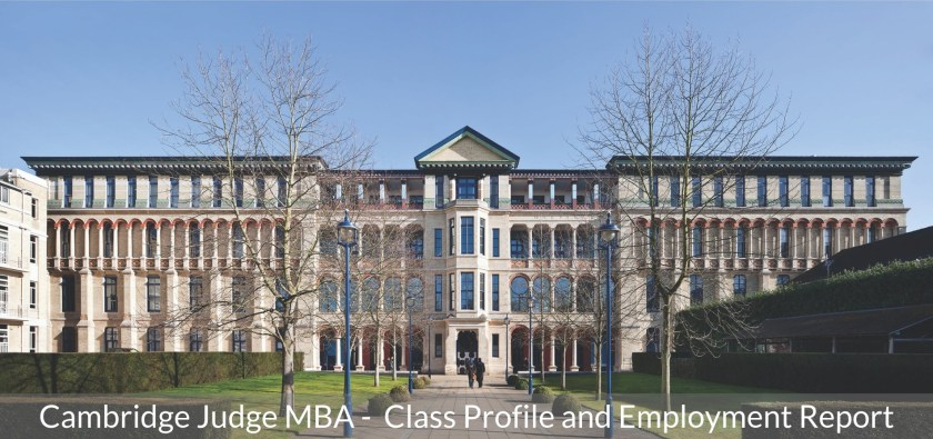 Cambridge Judge Business School MBA Program - Class Profile, Career and Employment Outcomes