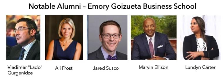 Emory Goizueta Business School MBA notable alumni
