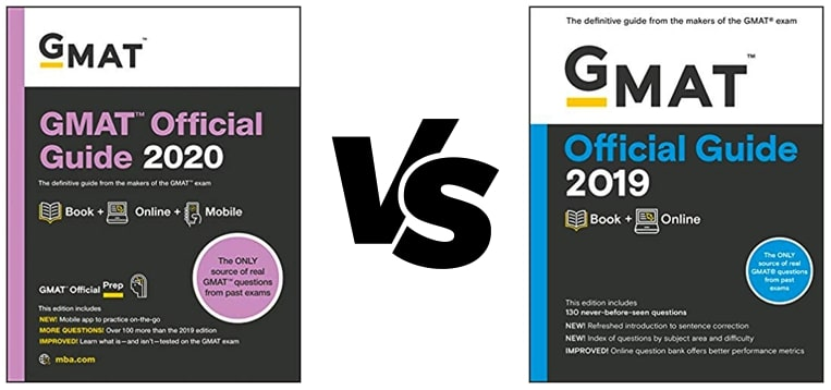 GMAT Official Guide 2020 vs GMAT OG 2019