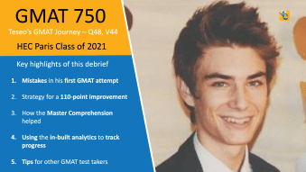 GMAT 640 to 750 - 110-point score improvement in 6 weeks