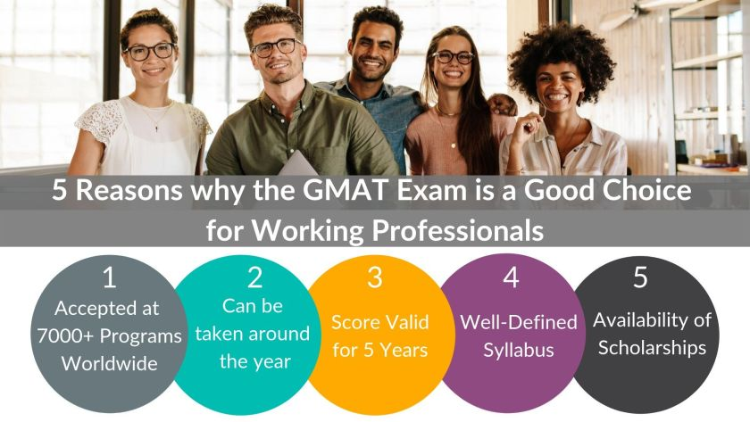 5 reasons why the GMAT exam is a good choice for working professionals