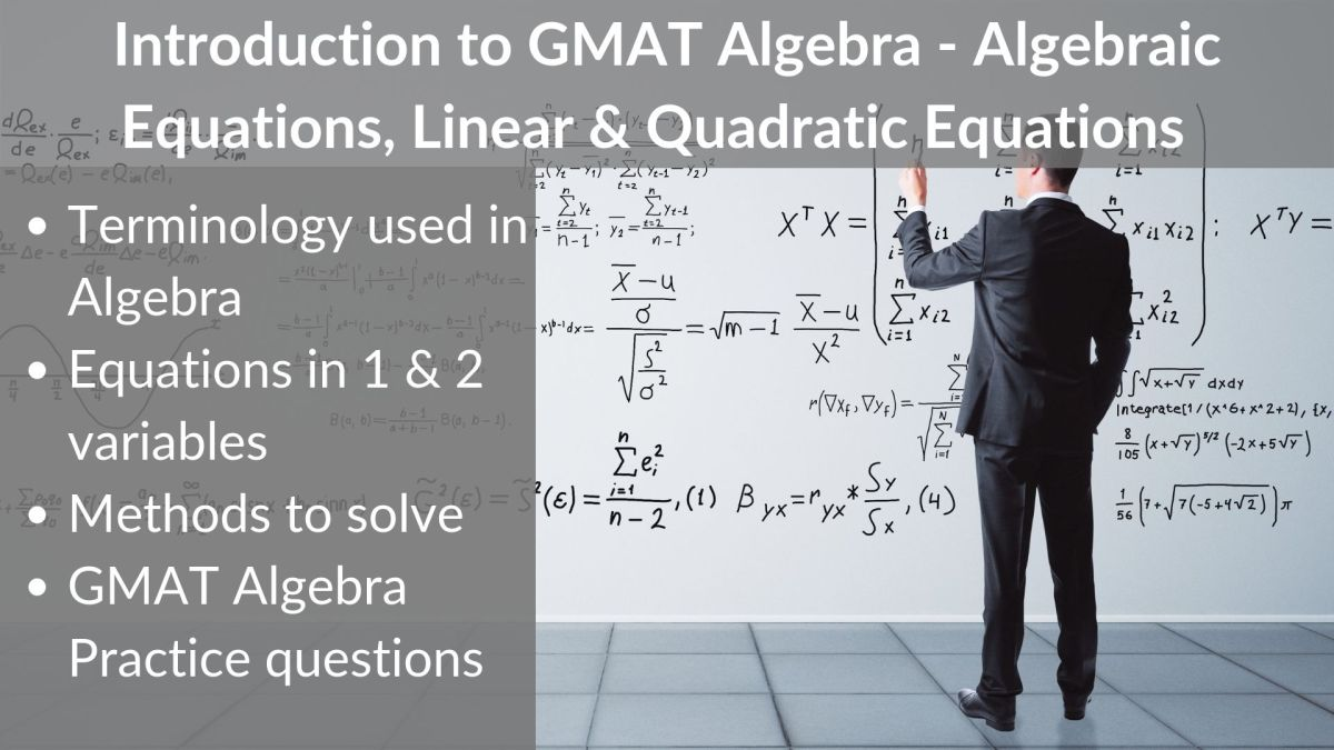 Introduction to GMAT Algebra