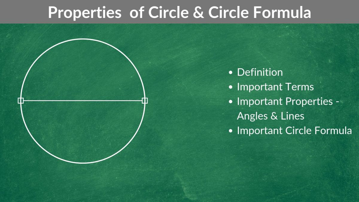 Properties of Circle & Circle Formula