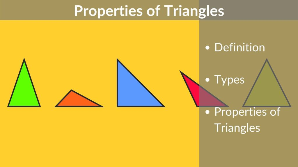 Properties of Triangles – Definition | Types | Classification