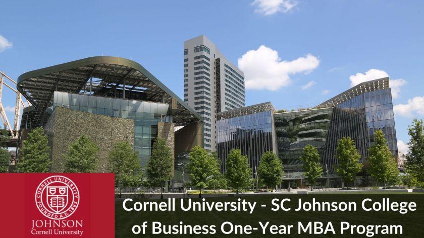Cornell 1-Year MBA Program