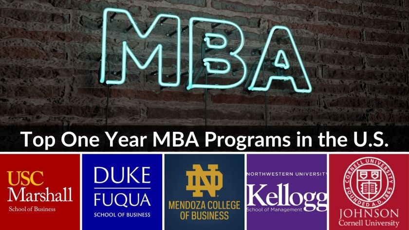 Top one year MBA programs in the US