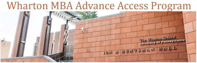 Wharton MBA Advance Access Program