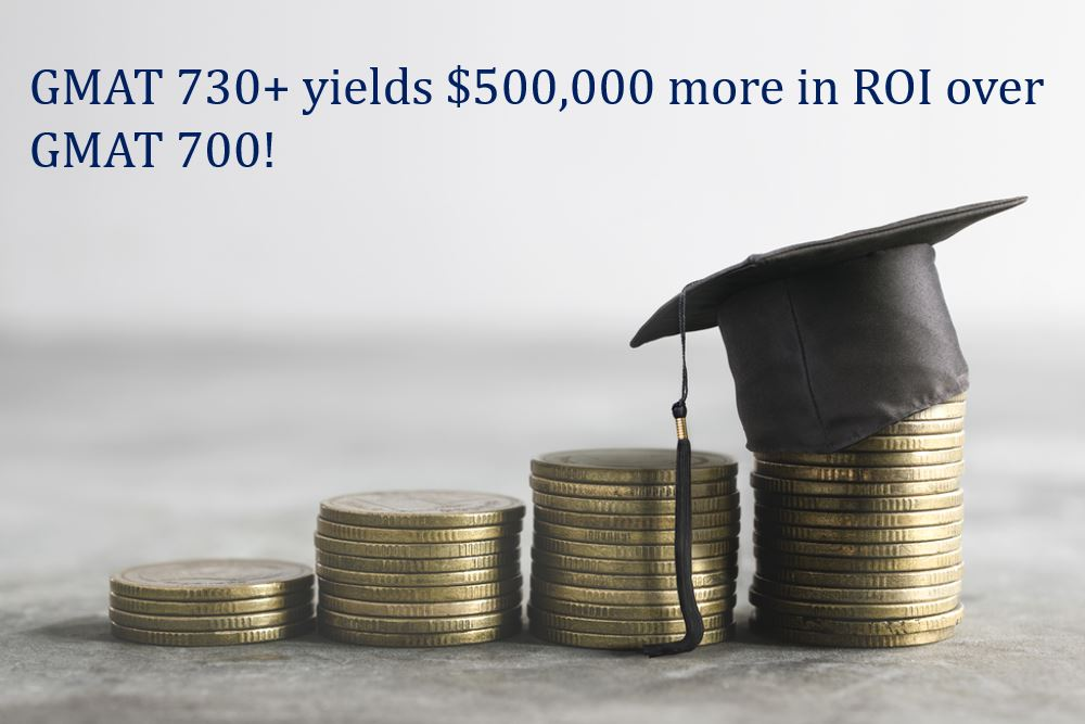 GMAT 730+ earns you half a million more