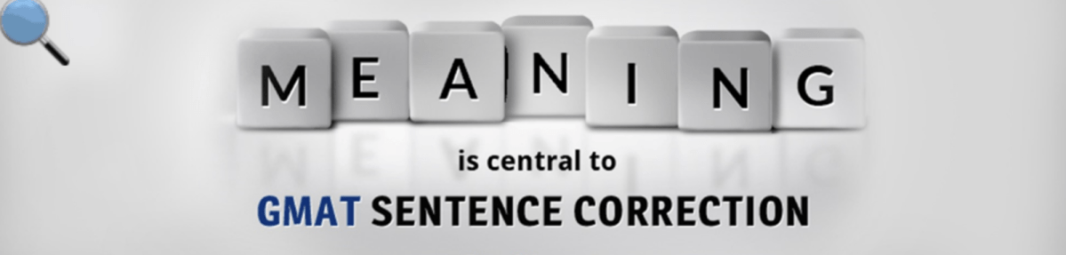 Meaning is central to Sentence Correction