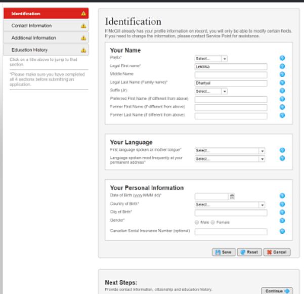 Mcgill-online-application