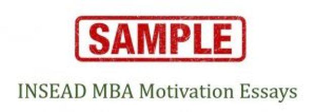 Sample INSEAD MBA essays