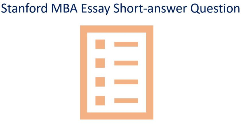 Stand MBA essay short-answer questions