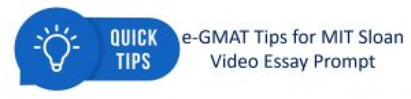 e-GMAT tips for MBA essays video prompt