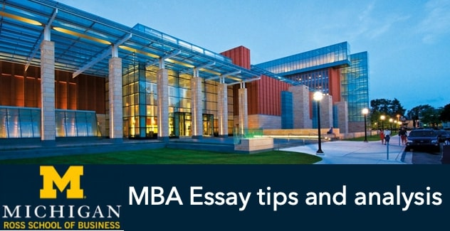 Michigan Ross MBA essay