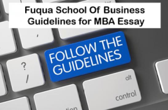 Guidelines-Duke-Fuqua-Essays