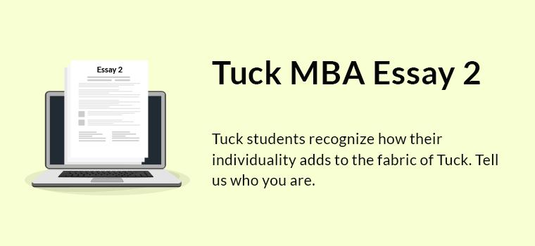 Tuck MBA Essay 2 Analysis