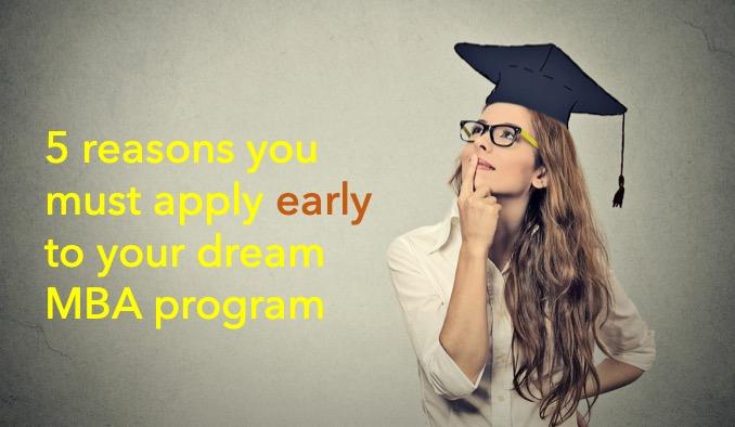 Apply early to your dream MBA program