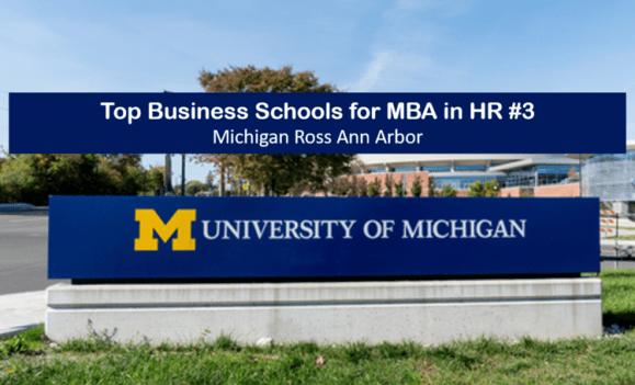 mba in hr top business schools michigan ross