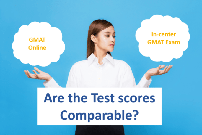 are the gmat scores comparable for online and in center exam?