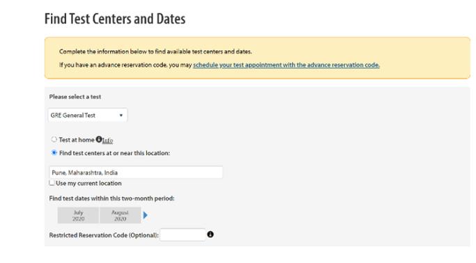 gre exam date registration 2