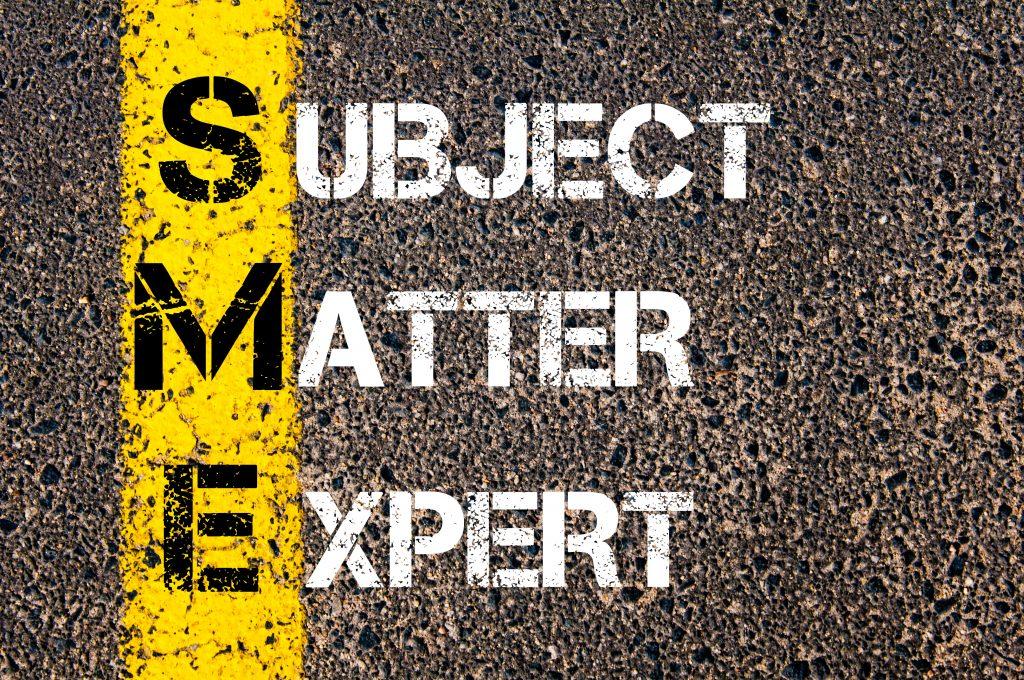 Article: How Subject Matter Expert Advice Saved Money