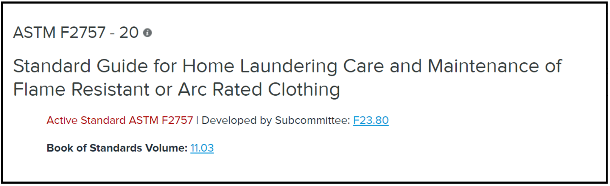 ASTM Updates Home Laundering Standard for AR and FR Clothing
