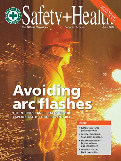 Avoiding Arc Flashes: Safety and Health Cover Features ArcWear and e-Hazard Test Photo