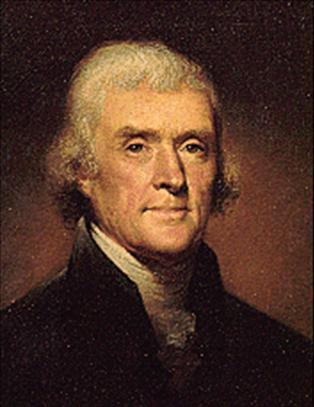 Jefferson sucedio a Adams el 4 de marzo de 1801