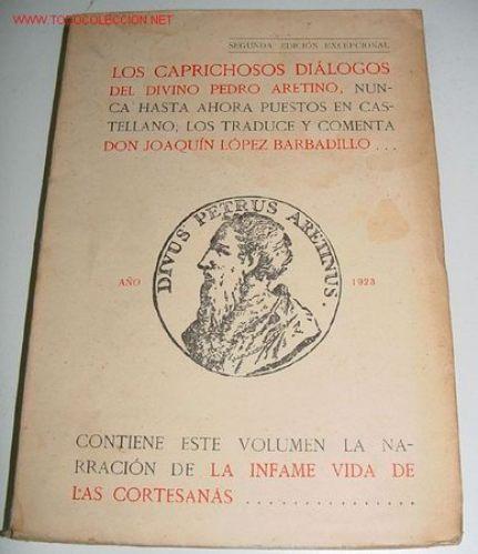Una de las obras del Aretino traducidas al español