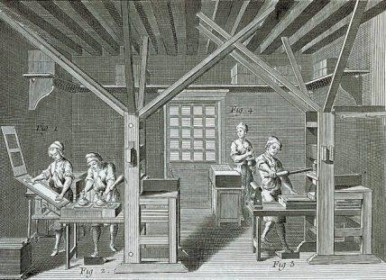 La imprenta, entre otros inventos permitió un ràpido desarrollo de la prensa escrita