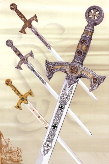 Espadas templarias: El poder templario fue tal que incomodó a reyes y a la propia Iglesia