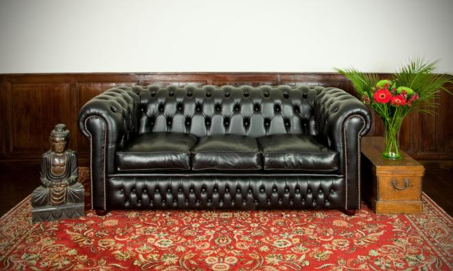 Canapé cuir anglais chesterfield occasion
