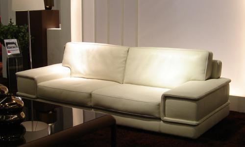 Canapé cuir ivoire