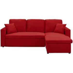 Canapé d angle rouge