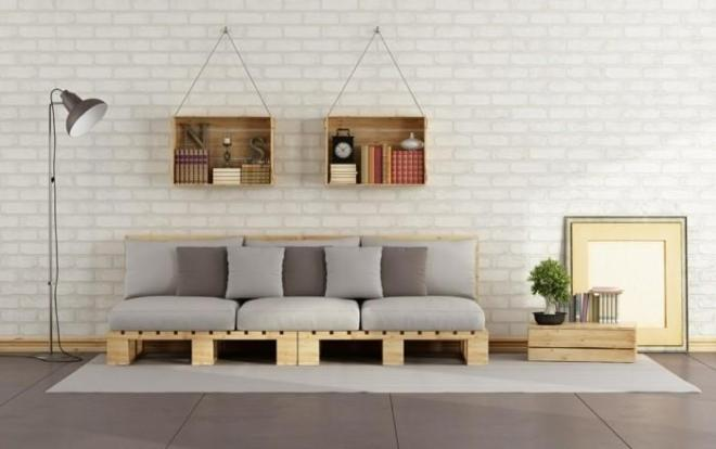 Canapé en palette