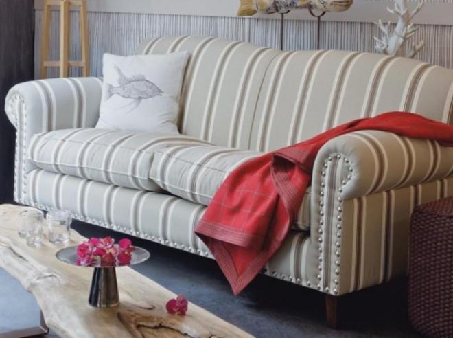 Canapé tissu fleuri anglais
